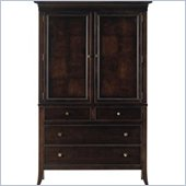 Stanley Furniture Hudson Street Dark Espresso Door Chest w/ Maple Hardwood & Wood Veneers