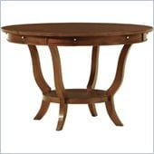 Stanley Furniture Hudson Street Round Casual Dining Table in Warm Cocoa Finish