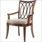 Stanley Furniture Hudson Street  Fabric Arm Chair in Warm Cocoa Finish