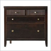 Stanley Furniture Hudson Street 4 Drawer Lateral Wood File Storage Cabinet in Dark Espresso