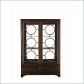 Stanley Furniture Continuum Wood & Glass Display China in Amaretto Cherry