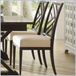 ADD TO YOUR SET: Stanley Furniture Continuum Fret Back Side Wood Chair in Java