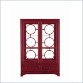 Stanley Furniture Continuum Wood & Glass Display in Cinnabar Finish