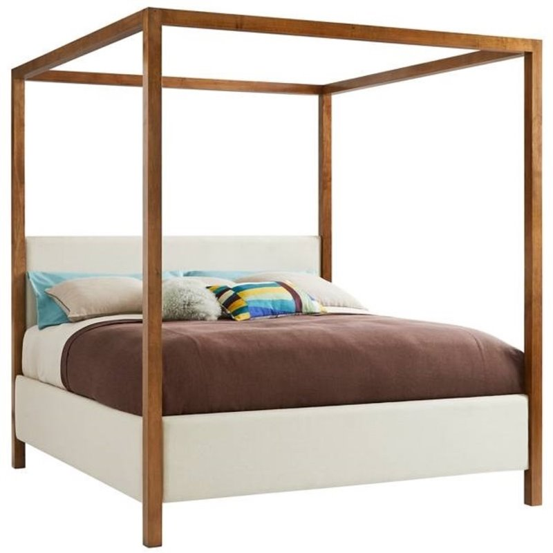 Stanley Furniture Panavista Archetype California King Canopy Bed in Goldenrod