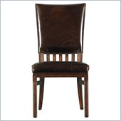 Stanley Furniture Modern Craftsman Morris School Side Chair in Saddle
