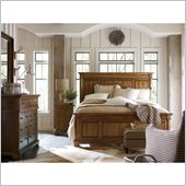 Stanley Furniture Portfolio Bedroom Bungalow Mantel Bed in Straw