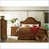 Stanley Furniture Portfolio Queen Bedroom Bungalow Panel Bed in Straw