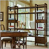 Stanley Furniture Archipelago Ripple Cay Media Bookcase in Fathom