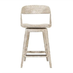 Stanley Furniture Archipelago Tambu Counter Stool in Blanquilla