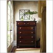 Stanley Furniture British Colonial Drawer Chest in Dark Shell