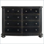 Stanley Furniture Continental Double Dresser in Ebony