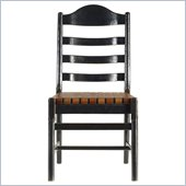 Stanley Furniture Artisan Ladderback Side Chair in Ebony