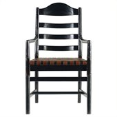 Stanley Furniture Artisan Ladderback Arm Chair in Ebony