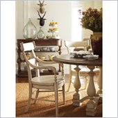 Stanley Furniture Old World Wood Arm Chair in Belgian White