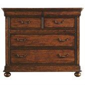 Stanley Furniture Louis Philippe Media Chest in Burnished Honey