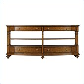 Stanley Furniture Arrondissement Rond Media Console in Heirloom Cherry