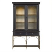 Stanley Furniture Arrondissement Salon Cercle Cabinet Bookcase in Rustic Charcoal