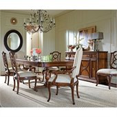 Stanley Furniture Arrondissement Famille 7 Piece Dining Set in Heirloom Cherry