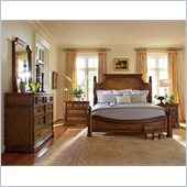 Stanley Furniture Arrondissement Reverie Panel Bed 3 Piece Bedroom Set in Heirloom Cherry