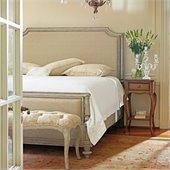 Stanley Furniture Arrondissement Palais Upholstered Bed 3 Piece Bedroom Set in Vintage Neutral