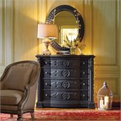 Stanley Furniture Arrondissement Epoque Dresser and Mirror Set in Rustic Charcoal