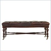 Stanley Furniture City Club Days End Leather Bed End Bench in Blair