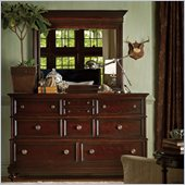 Stanley Furniture City Club Triple Dresser and Mirror Set in Blair