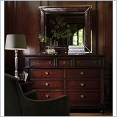 Stanley Furniture City Club Oxford Double Dressing Chest and Mirror Set in Blair