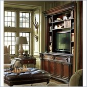 Stanley Furniture City Club Country Estate Media Console with Bookcase Hutch in Blair