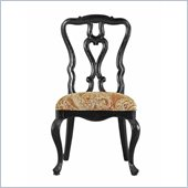 Stanley Furniture Portfolio Rustica Dining Side Chair in Raven