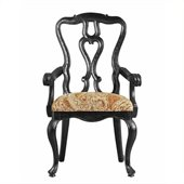 Stanley Furniture Portfolio Rustica Dining Arm Chair in Raven