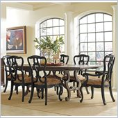 Stanley Furniture Portfolio Rustica Dining Harvest Table 7 Piece Dining Set in Sorrel and Raven