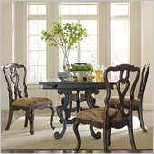 Stanley Furniture Portfolio Rustica Dining Harvest Table 5 Piece Dining Set in Raven