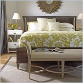 Stanley Furniture Coastal Living Resort Sunrise Sanctuary Sleigh Bed 4 Piece Bedroom Set in Channel Marker