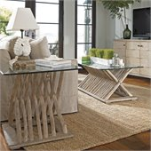 Stanley Furniture Coastal Living Resort Driftwood Flats 2 Piece Coffee Table Set in Weathered Pier
