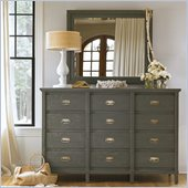 Stanley Furniture Coastal Living Resort Havens Harbor Triple Dresser and Mirror Set in Dolphin