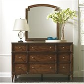 Stanley Furniture Classic Portfolio Vintage Dresser and Mirror Set in Heirloom Cherry