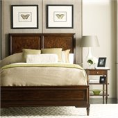 Stanley Furniture Classic Portfolio Vintage Wood Bed 2 Piece Bedroom Set in Heirloom Cherry