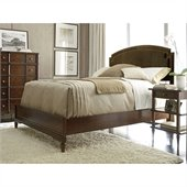 Stanley Furniture Classic Portfolio Vintage Upholstered Bed 3 Piece Bedroom Set in Herloom Cherry