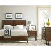 Stanley Furniture Classic Portfolio Vintage Wood Bed 3 Piece Bedroom Set in Heirloom Cherry