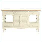 Stanley Furniture Coastal Living Cottage Buffet with Boardwalk Top in Shell