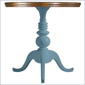 Stanley Furniture Coastal Living Cottage Beachcomber Pedestal Table with Boardwalk Top in Wave