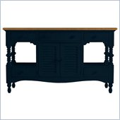 Stanley Furniture Coastal Living Cottage Buffet with Boardwalk Top in Navy