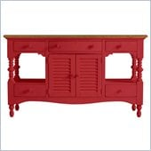Stanley Furniture Coastal Living Cottage Buffet with Boardwalk Top in Beach Cruiser