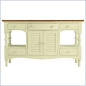 Stanley Furniture Coastal Living Cottage Buffet with Boardwalk Top in Sea Grass