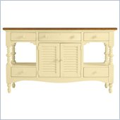 Stanley Furniture Coastal Living Cottage Buffet with Boardwalk Top in Lemon Twist