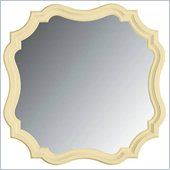 Stanley Furniture Coastal Living Cottage Piecrust Mirror in Lemon Twist