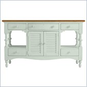 Stanley Furniture Coastal Living Cottage Buffet with Boardwalk Top in Morning Sky