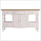 Stanley Furniture Coastal Living Cottage Buffet with Boardwalk Top in Twilight
