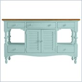 Stanley Furniture Coastal Living Cottage Buffet with Boardwalk Top in Sea Mist